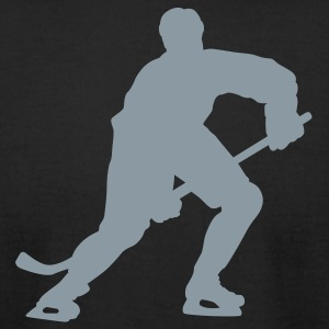 Black hockey silhouette T-Shirts - Men's T-Shirt by American Apparel