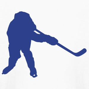White hockey player silhouette Kids Shirts - Kids' Long Sleeve T-Shirt