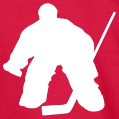 Red hockey goalie Kids Shirts