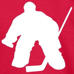 Red hockey goalie Kids Shirts - Kids' Long Sleeve T-Shirt