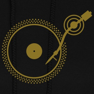 Black Turntable 2 Hooded Sweatshirts - Women's Hoodie