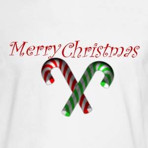 Merry Christmas  w/ candycanes - Men's Long Sleeve T-Shirt