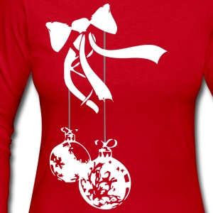 Red ornament - white Long sleeve shirts - Women's Long Sleeve Jersey T-Shirt