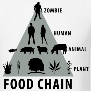 White Food Chain T-Shirts - Men's T-Shirt