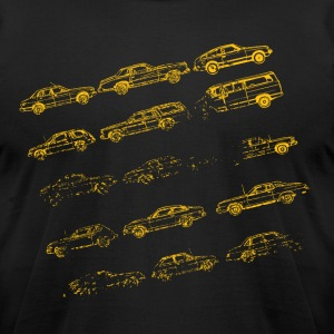 Black Vintage Old Cars Designer Graphic T-Shirts - Men's T-Shirt by American Apparel