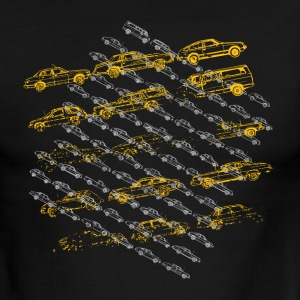 Black/white Vintage Old Cars Designer Graphic T-Shirts - Men's Ringer T-Shirt
