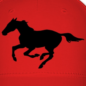 Red Horse at galopp Caps - Baseball Cap