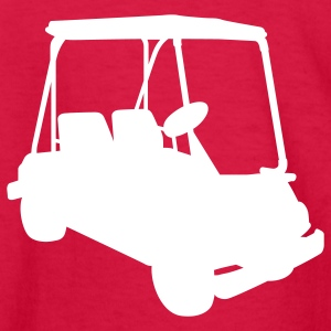 Red Golf cart Kids Shirts - Kids' Long Sleeve T-Shirt