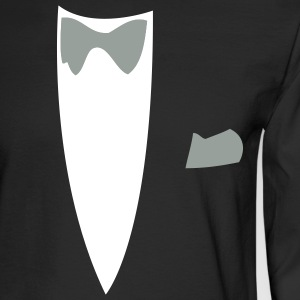 Black Funny Joke Tux Gag T-shirts Long sleeve shirts - Men's Long Sleeve T-Shirt