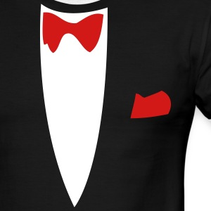Black/white Funny Joke Tux Gag T-shirts T-Shirts - Men's Ringer T-Shirt