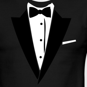 Black/white Hilarious Tuxedo Shirt T-Shirts - Men's Ringer T-Shirt