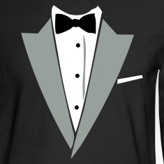 Black Hilarious Tuxedo Shirt Long sleeve shirts