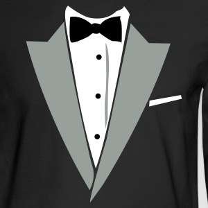 Black Hilarious Tuxedo Shirt Long sleeve shirts - Men's Long Sleeve T-Shirt