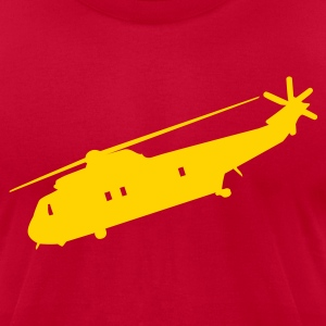 Brown Cool Military helicopter Flex Graphic T-Shirts - Men's T-Shirt by American Apparel