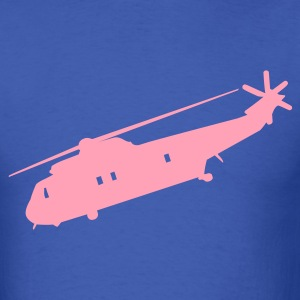 Royal blue Cool Military helicopter Flex Graphic T-Shirts - Men's T-Shirt