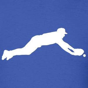 Royal blue baseball dive T-Shirts - Men's T-Shirt