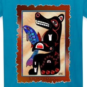 Haida-style Bear & Salmon - Kids' T-Shirt