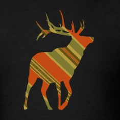 Black Christmas Plaid ReinDeer T-Shirts