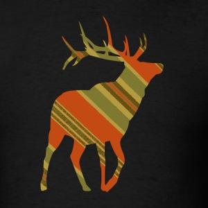Black Christmas Plaid ReinDeer T-Shirts - Men's T-Shirt