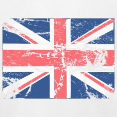 White Vintage British FLAG T-Shirts