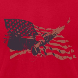 Lemon Vintage American Flag bald eagle T-Shirts - Men's T-Shirt by American Apparel
