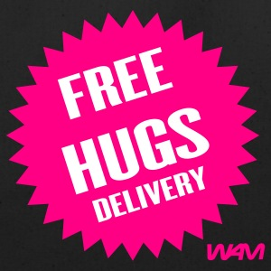 Black free hugs delivery by wam Bags  - Eco-Friendly Cotton Tote