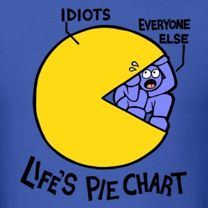Life's Pie Chart T-Shirts - Men's T-Shirt