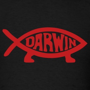 Black Darwin Fish T-Shirts - Men's T-Shirt