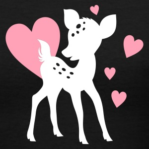 ::LOVE FAWN::  - Women's V-Neck T-Shirt