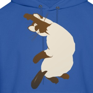 Sitting Siamese Cat - Men's Hoodie