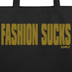 Black fashion sucks by wam Bags  - Eco-Friendly Cotton Tote