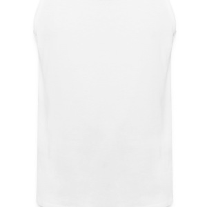 White hearts_and_flowers Apron - Men's Premium Tank