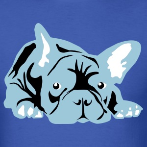 Royal blue French Bulldog big T-Shirts - Men's T-Shirt