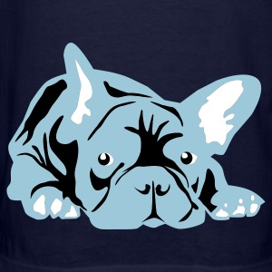 Navy French Bulldog big T-Shirts - Men's T-Shirt