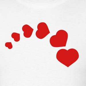White heart curve T-Shirts - Men's T-Shirt