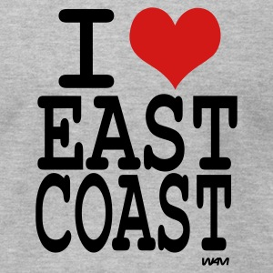 Heather grey i love east coast by wam T-Shirts - Men's T-Shirt by American Apparel