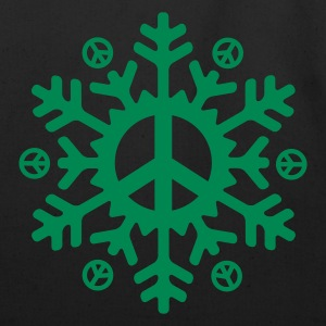 Peace Snowflake (vector)  - Eco-Friendly Cotton Tote