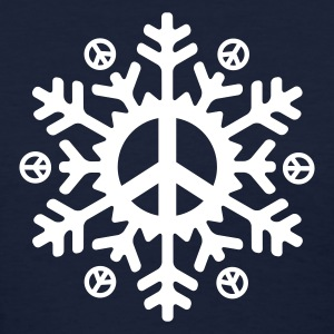 Peace Snowflake (vector)  - Women's T-Shirt