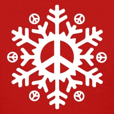 Peace Snowflake (vector)