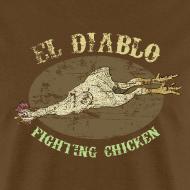 Design ~ EL DIABLO FIGHTING CHICKEN T-Shirt - Vintage Style