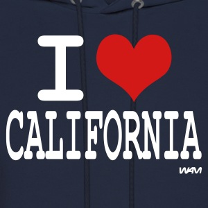 Navy i love california by wam Hoodies - Men's Hoodie