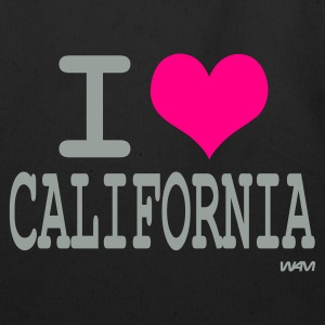Black i love california by wam Bags  - Eco-Friendly Cotton Tote