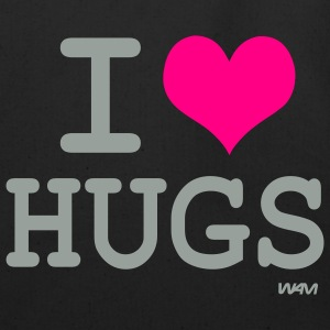 Black i love hugs by wam Bags  - Eco-Friendly Cotton Tote