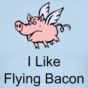 I Like Flying Bacon - Men's Ringer T-Shirt