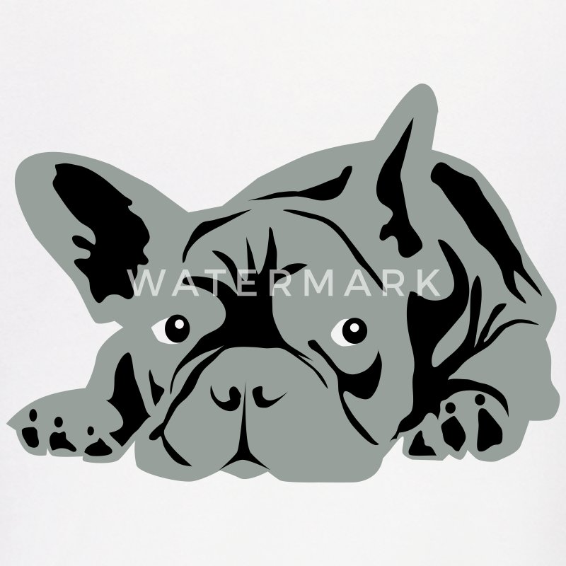 White French Bulldog  Hoodies - Men's Hoodie