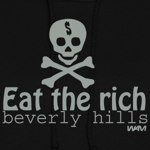 Black eat the rich by wam Hooded Sweatshirts - Women's Hoodie