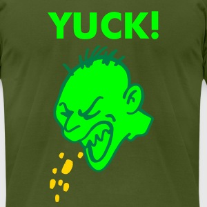 Olive Yuck T-Shirts - Men's T-Shirt by American Apparel