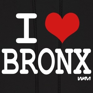 Black i love bronx NYC by wam Hoodies - Men's Hoodie