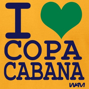 Gold i love Copacabana by wam T-Shirts - Men's T-Shirt by American Apparel