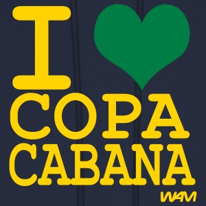 Navy i love Copacabana by wam Hoodies - Men's Hoodie